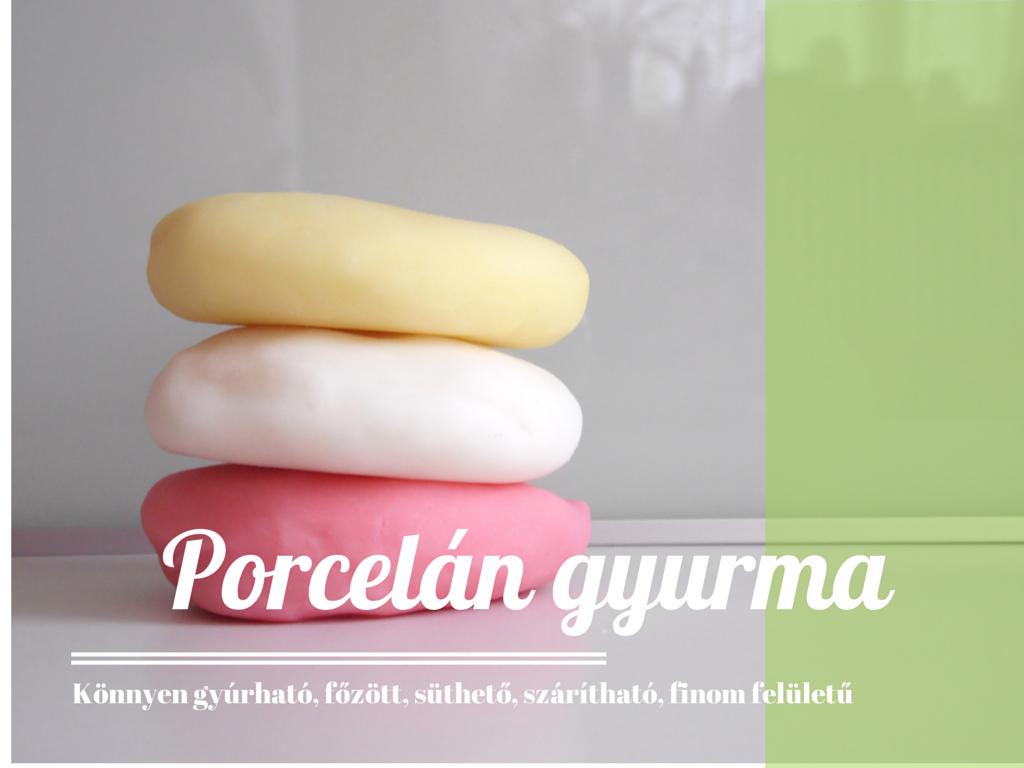 porcelán gyurma